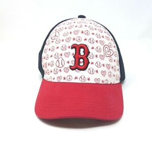 Boston Red Sox Fan Favorite Kids Navy Blue/Red-Colored Adjustable Hat Cap