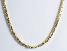 "11.70 gm 14k Gold Solid Yellow Men's Women's Byzantine Chain Necklace 20"" 2 mm"