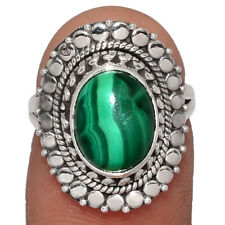 Malachite 925 Sterling Silver Ring Jewelry s.5.5 AR157704 179G