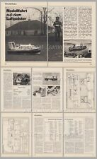 """Bauplan Saunders-Roe SR.N6 Luftkissenboot der """"Hovertravel"""" - Original von 1972"""