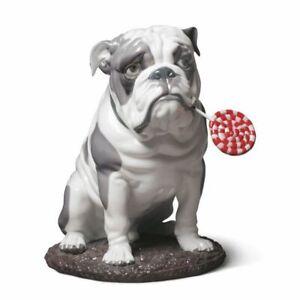 Lladro Bulldog with Lollipop Dog Figurine 01009234  / 9234