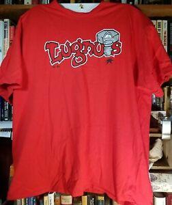 Lansing Lugnuts MiLB Baseball Red Majestic T-Shirt Large 2XL Minor League Team