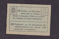 Série étiquettes  Allumettes Belgique  BN16746 Exposition universelle 1958