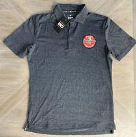 New Men's Bar Down Bucci's Overtime Hockey Polo Shirt Gray Men's Size Large