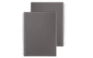 Miliko A5 Dark Transparent Hardcover Dot Grid Wirebound/Spiral Notebook/Journal