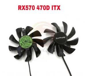 Sapphire AMD Radeon RX470D RX570 ITX Fan Replacement 4Pin T129215SU