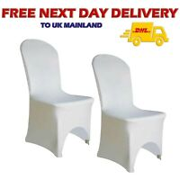 100pcs WHITE Spandex CHAIR COVERS Decor Wedding Banquet ARCH FRONT Party