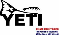 Vinyl Decal Sticker - YETI Redfish Fishing Car Truck Bumper Window JDM Fun 7""