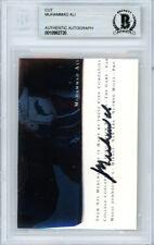 Muhammad Ali Autographed Signed 2.5x3.5 Cut Signature Beckett BAS #10982720