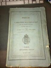 ESCLAVAGE. ABOLITION DANS LES COLONIES ANGLAISES. (Deuxième Publication). 1841