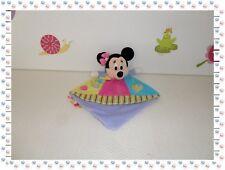 ♪  - Doudou Plat Losange Minnie Rose Bleu  Rouge Jaune Vert Disney Nicotoy