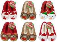 Womens/girls.kids Co-Zee Christmas Novelty Slippers with Gripper soles. 4-6 uk