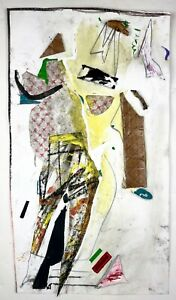 DAISY - Mixed Media Found Object Collage Figure Painting - Steven Tannenbaum