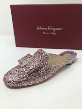 $550 New Salvatore Ferragamo Womens Sciacca Pink Slippers Ladies Shoes Size 6.5