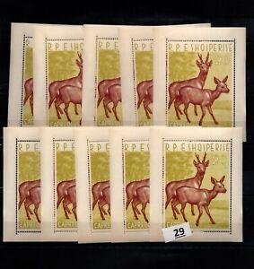 / 10X ALBANIA - MNH - DEERS - WILD ANIMALS - WHOLESALE