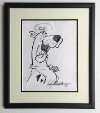 SCOOBY DOO ORIGINAL DRAWING BY CREATOR IWAO TAKAMOTO (1925 - 2007) HAND SIGNED