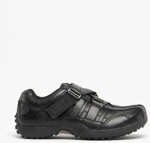 Skechers URBANTRACK II RAGE Boys Cushioned Comfy Touch Fasten School Shoes Black