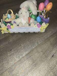 Handmade Easter Bunny Spring Arrangement