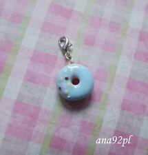 Miniatura bombolone Donut Charm Ciondolo fatto a mano fimo dolce glassa KAWAII novità