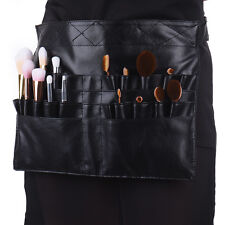 Professonal Black Cosmetic Makeup Brush Apron Bag Artist Belt Strap Holder