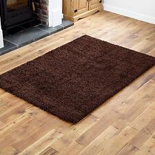 Large Thick 5cm High Pile Soft Modern Chocolate Brown Shaggy Rug 150 X 210cm