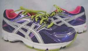Asics Size 7 Grape White Running Sneakers New Girls Shoes