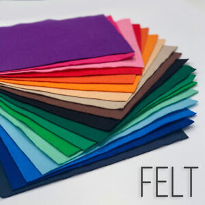 Top Quality 30% Wool Blend Felt Over 30+ Colours 8 Size Options Free Postage