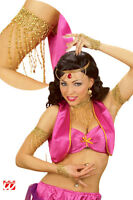 Bracelet de BRAS Perles Or Déguisement Adulte Femme Jasmine Arabe NEUF Pas cher