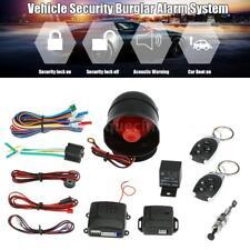 Car Vehicle Burglar Alarm Keyless Entry anti-theft Security System+2 Remote Y8K8