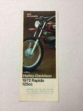 1972Harley Davidson Rapido 125cc Model, Sales Brochure
