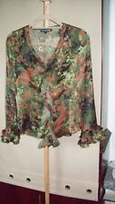 WOMENS FRILLY BLOUSE SIZE 10
