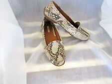 Geox Snake Print Leather Loafers Driving Moccasin Size 36/6 Flats EUC