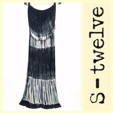 S-Twelve $139 tie-dye soft knit strapless/tube top maxi dress~S