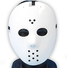 Jason Voorhees Friday the 13th Scary Halloween Hockey Mask White Cosplay NWT