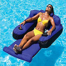 Swimline Ultimate Fabric Covered Inflatable Swimming Pool Lounger Float