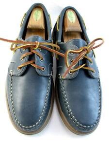 """NEW Allen Edmonds """"EASTPORT"""" Slip-On Men's Casual Boat Shoes 10 D Navy (476)"""