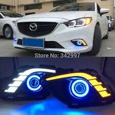 For Mazda 6 M6 2013- 2015 2x LED Daytime Fog Lights Projector angel eye kit