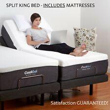 Split King Electric Bed Frame AND MATTRESSES Adjustable Massage Remote Medical 2