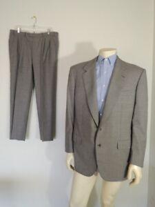 BRIONI Grey Wool 2-Button Suit Pleat Front Pants Size 42 R / 37 Waist