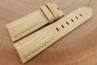 24mm/22mm Beige Genuine OSTRICH Leather Watch Strap Band forPanerai