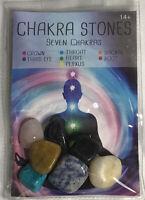 Chakra Stones 7pcs/Set Palm Natural Stone Reiki Healing Crystals Gemstones Decor