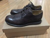 Cole Haan Lunargrand Wing Tip Men's Leather Oxford Shoes 7 T-Moro Brown C12598