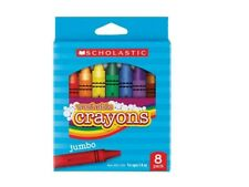 Scholastic Jumbo Washable Crayons Assorted Box Of 8 Brand New