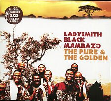 LADYSMITH BLACK MAMBAZO THE PURE & THE GOLDEN - 2 CD BOX SET - SIBEZWILE & MORE