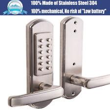 Full Size Left Handed Mechanical Door Lock Keypad Keyless Entry Combination Set