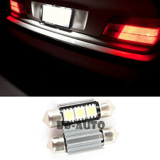 For BMW Mercedes Benz Audi Canbus LED Xenon 3-SMD 36mm Light Bulbs x2 6411 6418