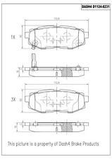 Disc Brake Pad Set-Eng Code: EZ36D Rear Dash 4 Brake CD1124
