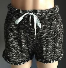 Fab Black & White FACTORIE Textured Knit Athletic Style Shorts Size S/10