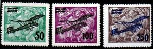 CZECHOSLOVAKIA. 1922. AIR.   SET.(3) MOUNTED MINT SG#224-226.