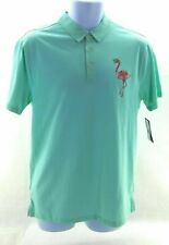 Retro Fit Mens Polo Shirt Mint Flamingo Short Sleeve
